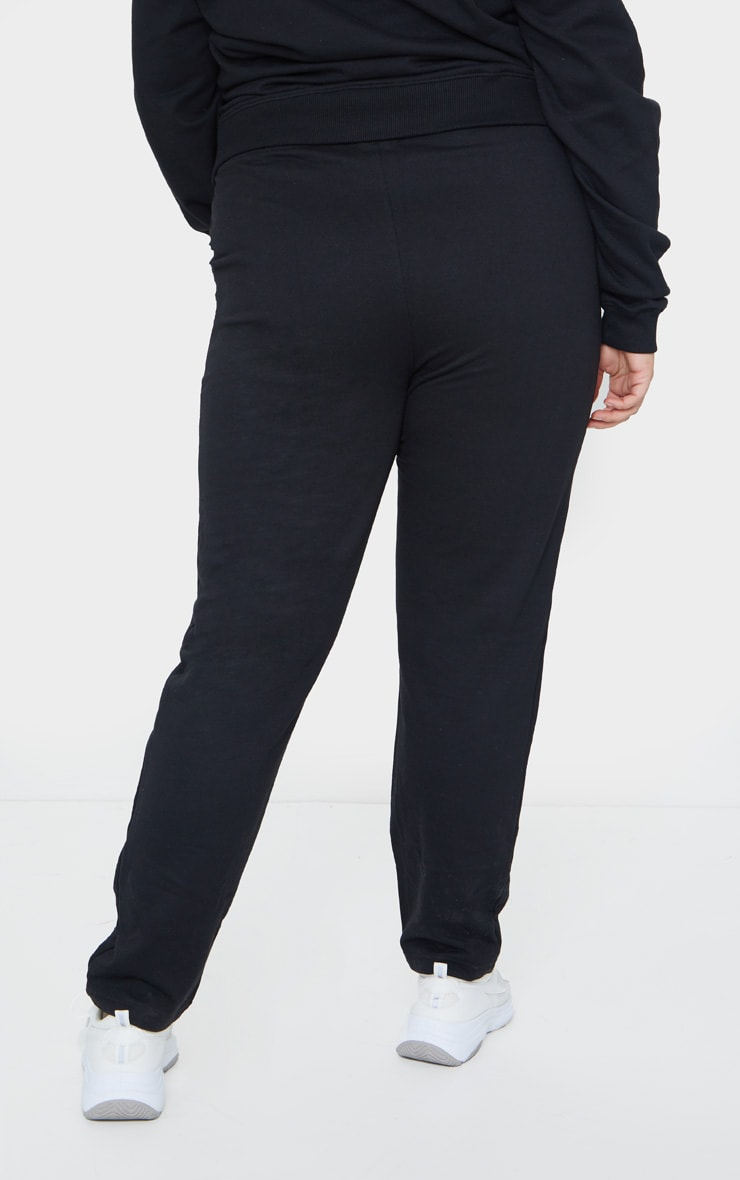 Plus Black Basic Joggers 3