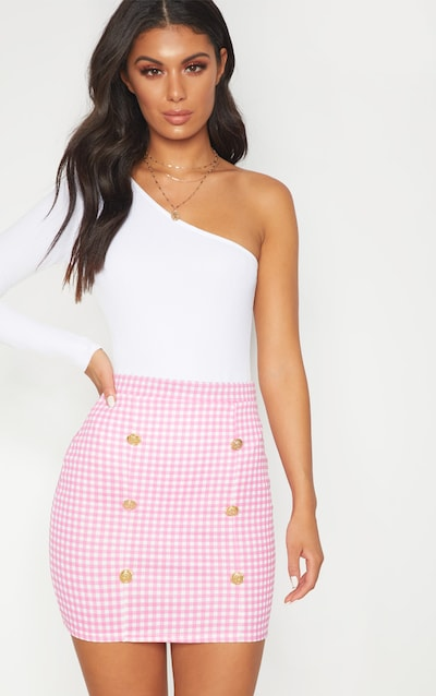 Black Gingham Check Button Detail Mini Skirt Pretty Little Thing Buy Cheap Find Great zKJBSmM08w