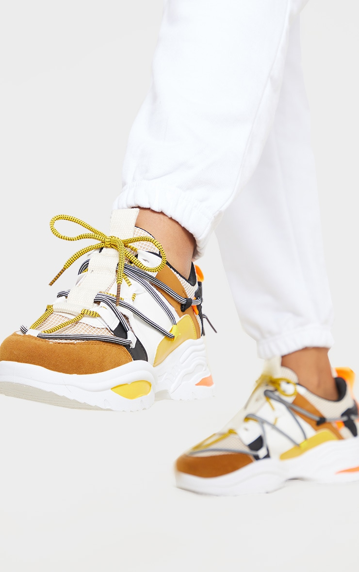 Yellow Multi Chunky Sneakers 2
