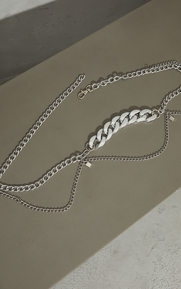 Silver Assorted Layering Chain Belt 3