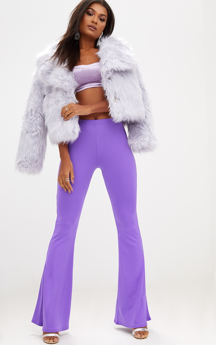Purple Ultimate Flared Trousers 1
