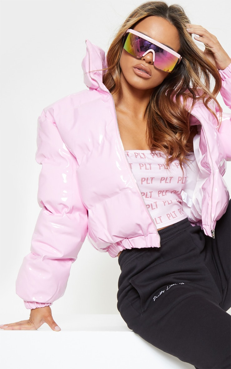 Pink Vinly Puffer 6