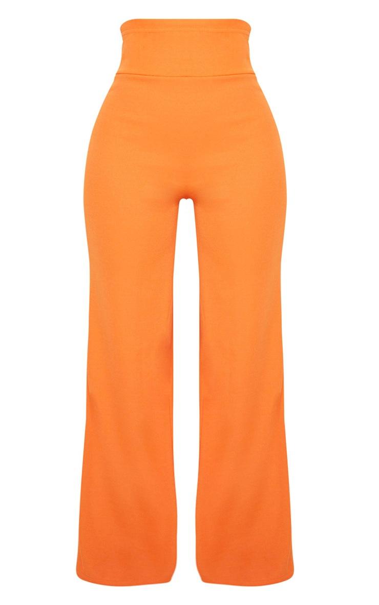 Shape Orange Bandage Extreme High Waist Wide Leg Trousers 3