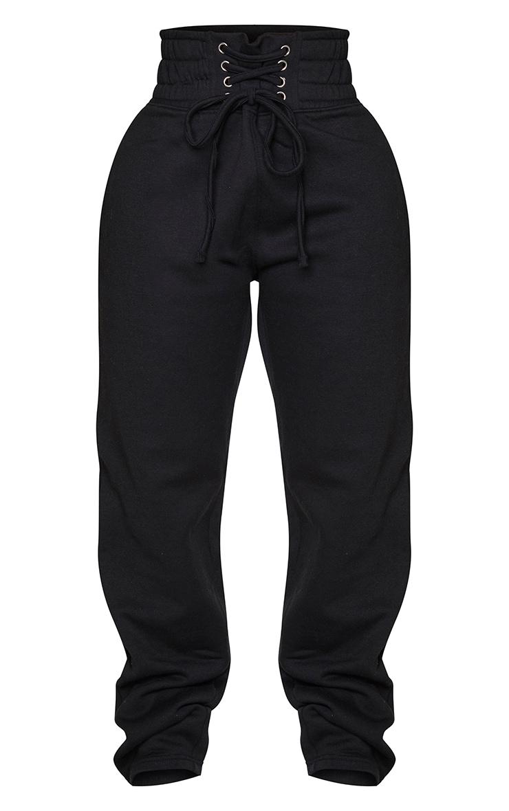 Shape - Jogging ample noir à taille style corset 5