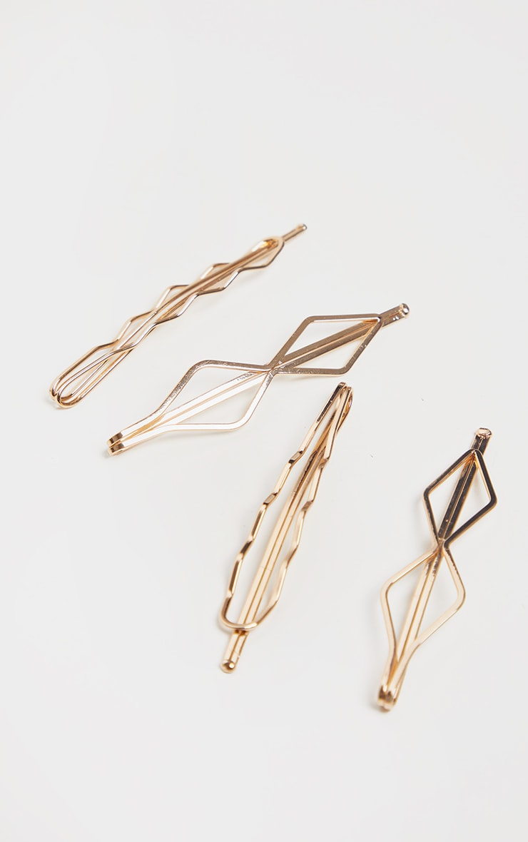 Gold Wavy Hair Slides 2