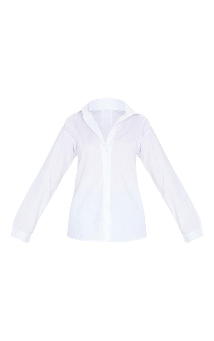 Chemise blanche oversize en coton  5