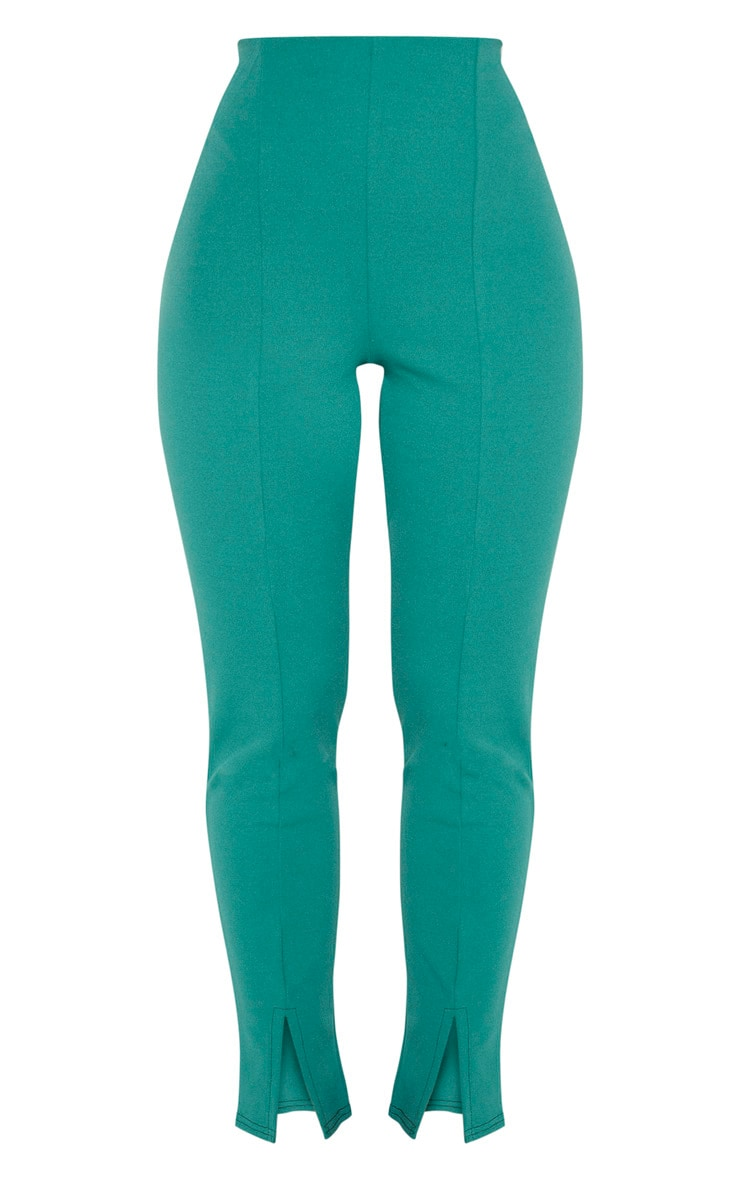 Emerald Green Split Front Trouser 3