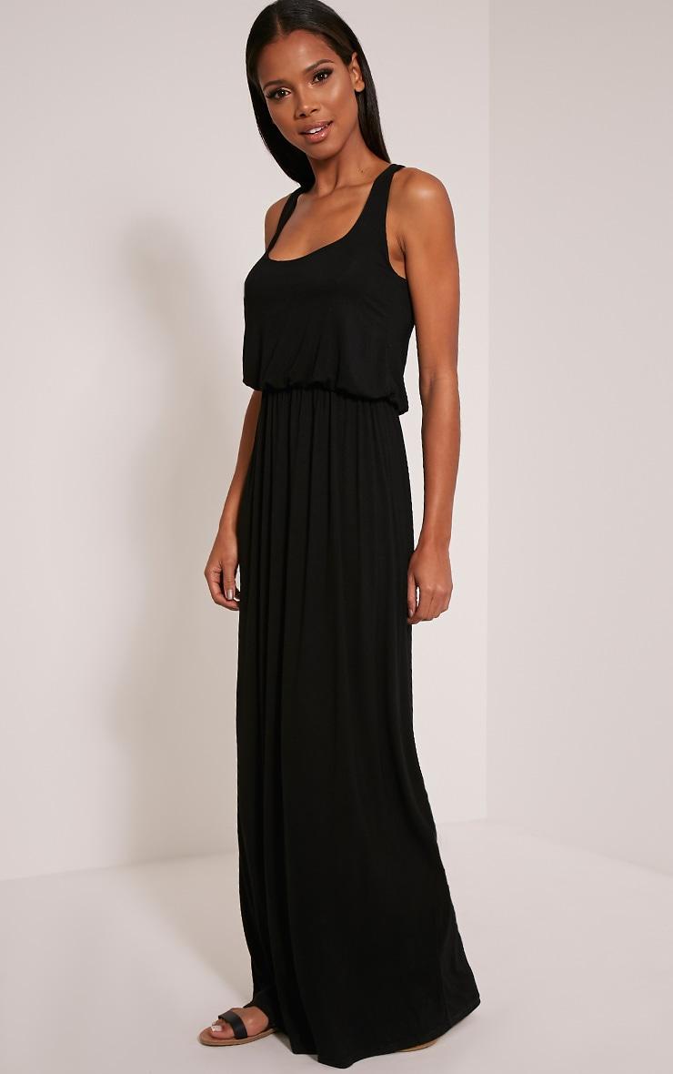 Basic robe dos nageur maxi noire 5