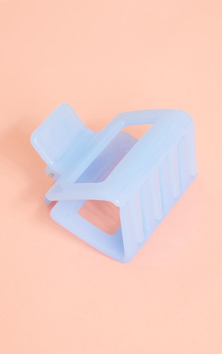 Baby Blue Mini Square Cut Out Hair Clip 2