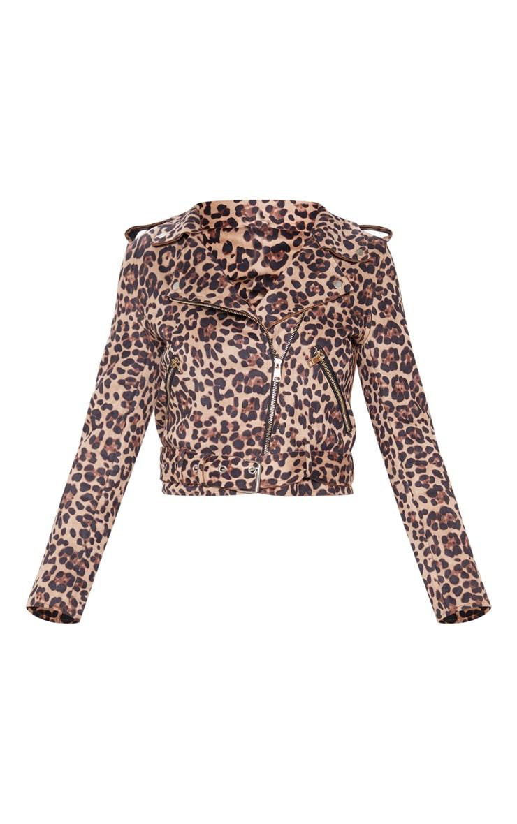 Leopard Print Biker  4