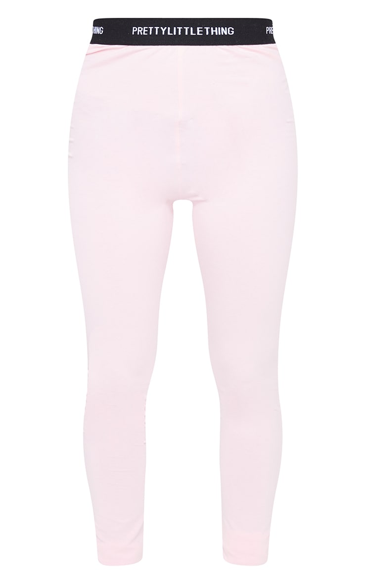 PRETTYLITTLETHING Baby Pink Tape Leggings 5