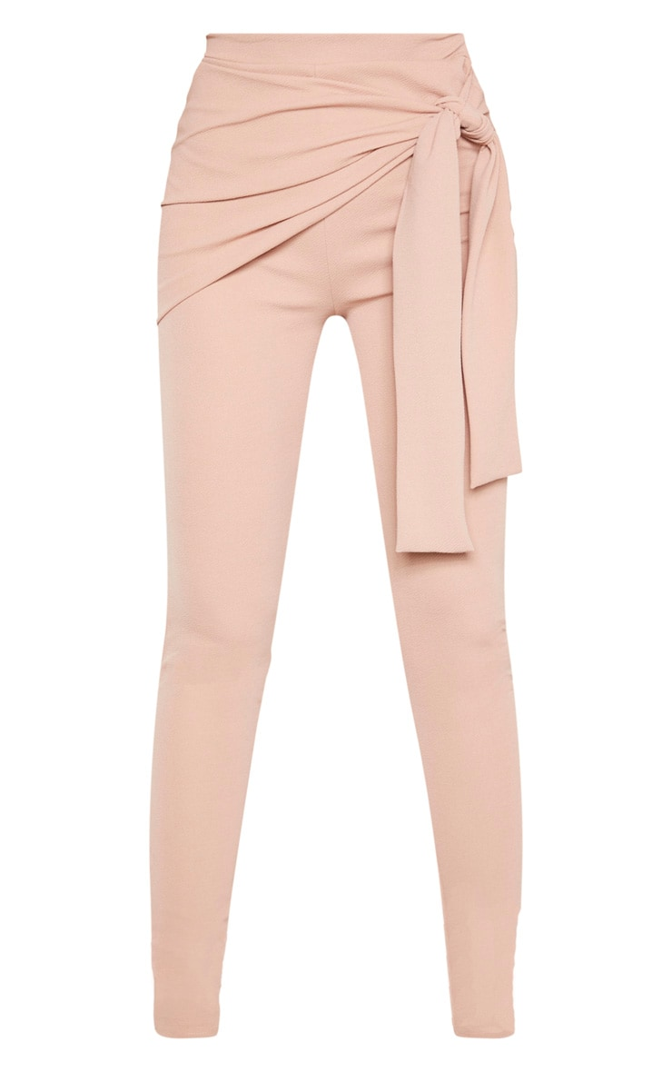 Tall Stone Tie Detail Crepe Pants 4