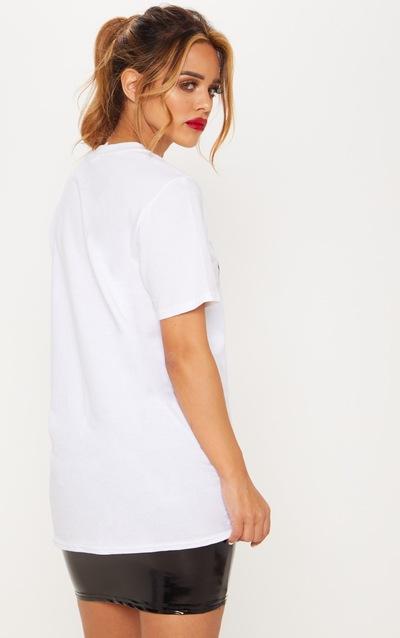 Petite White Bood Up T-Shirt