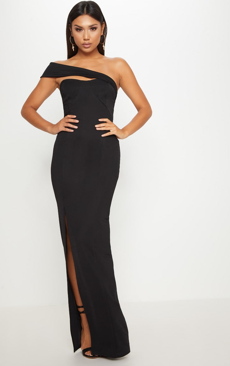 Black Cross Strap Detail Maxi Dress 1