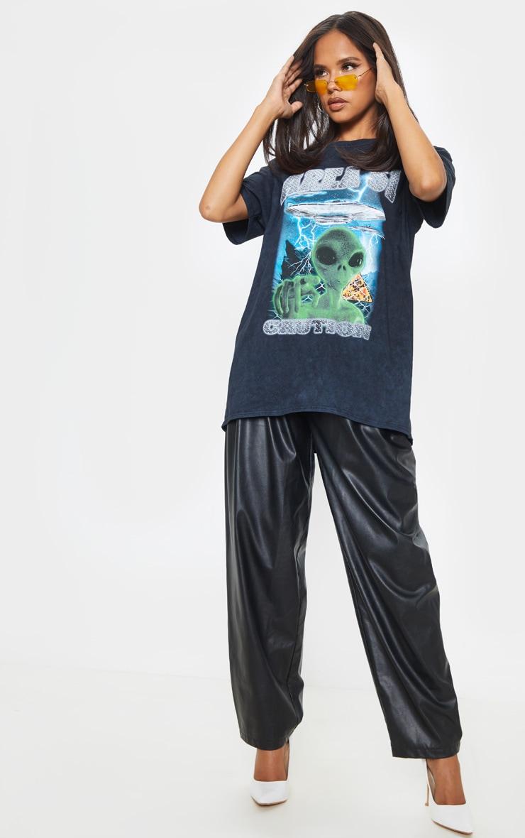 T-shirt noir oversize à slogan AREA 51 1