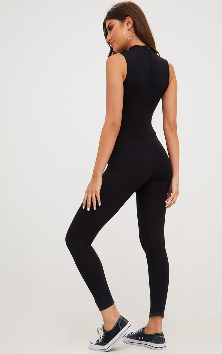 Black Jersey High Neck Jumpsuit 2