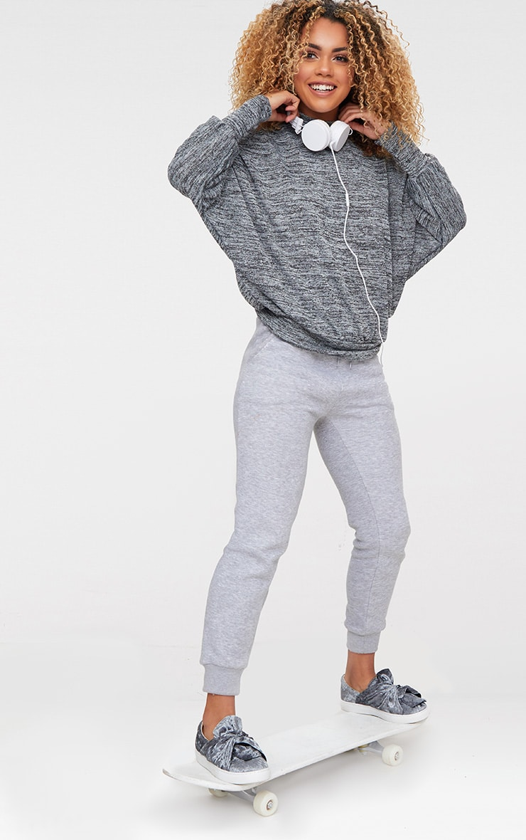 Grey Batwing Knitted Top 4