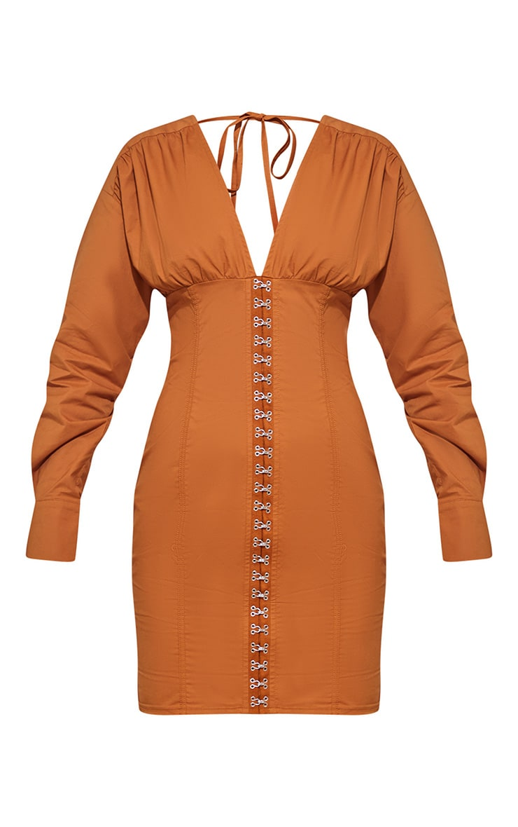 Toffee Corset Detail Bodycon Dress 4