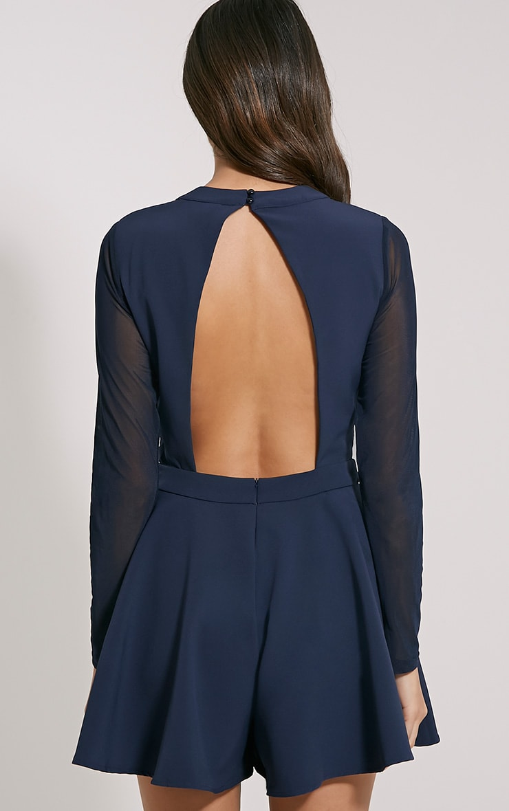 Darleen Navy Cut Out Detail Playsuit 2
