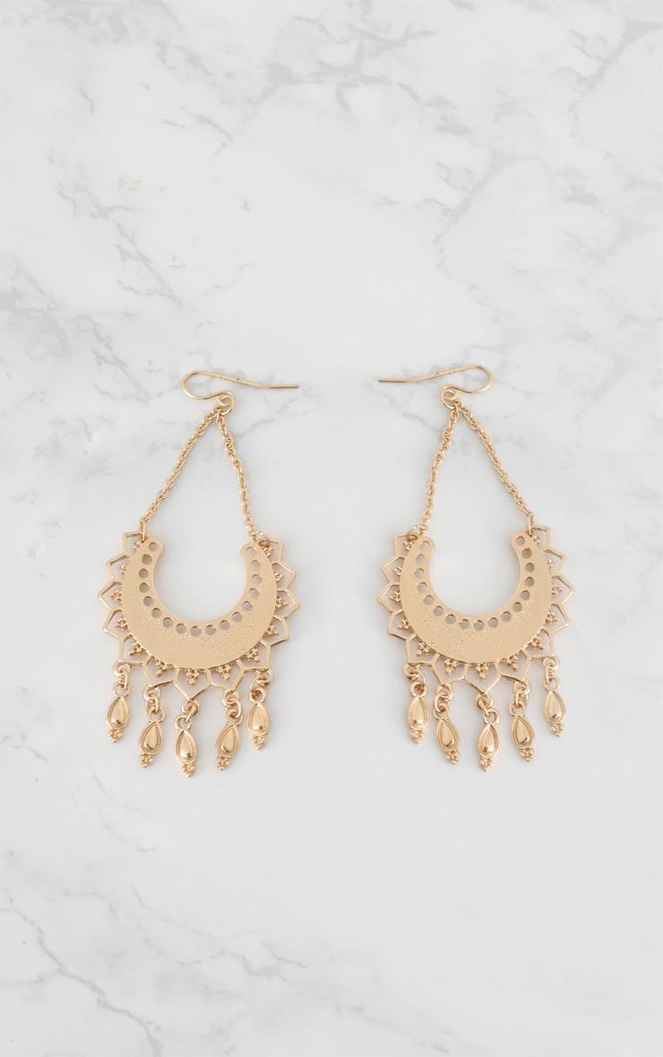 Gold Sun Drop Earrings 3