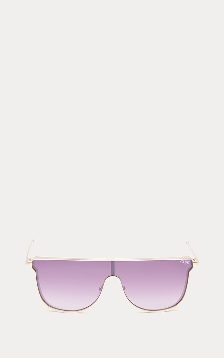 QUAY AUSTRALIA Silver Hindsight Flat Top Sunglasses 2