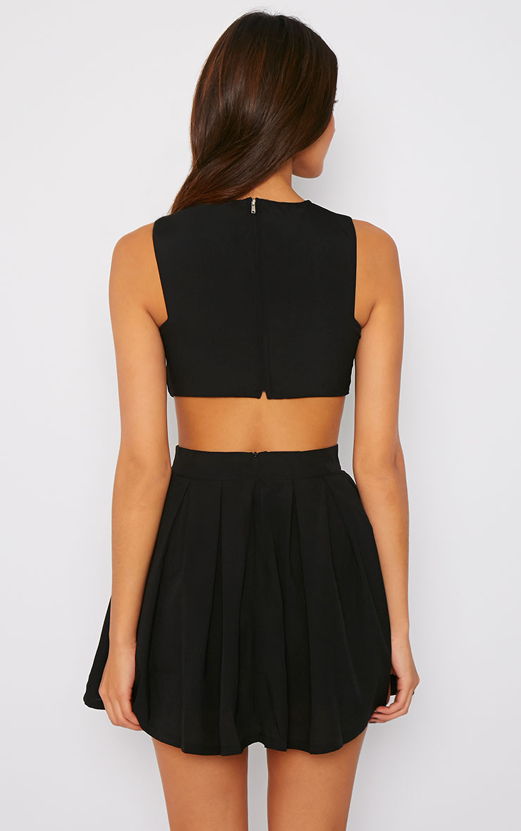 Merlyn Black Cut Out Skater Dress 2