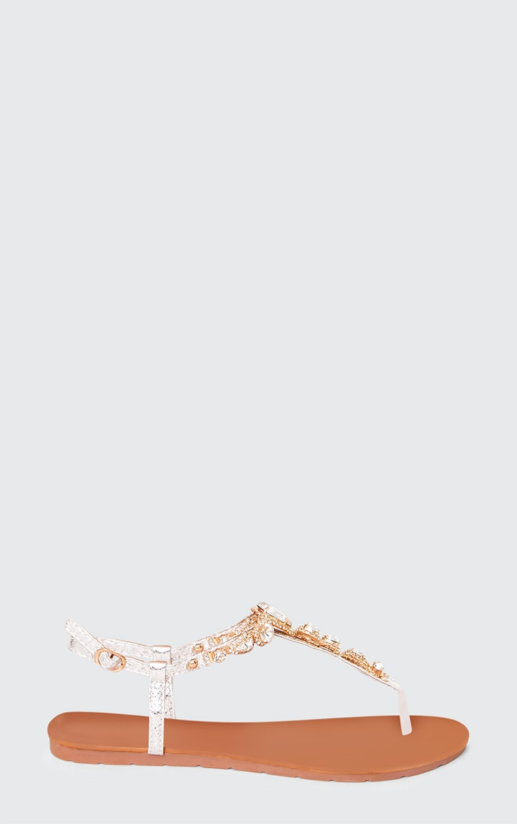 Adela Silver Jewelled Sandals 2