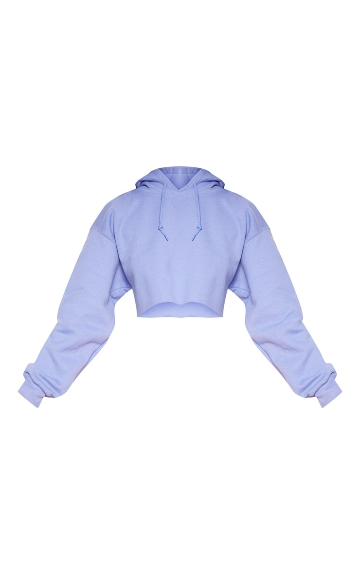 Lilac Ultimate Oversized Crop Hoodie 3