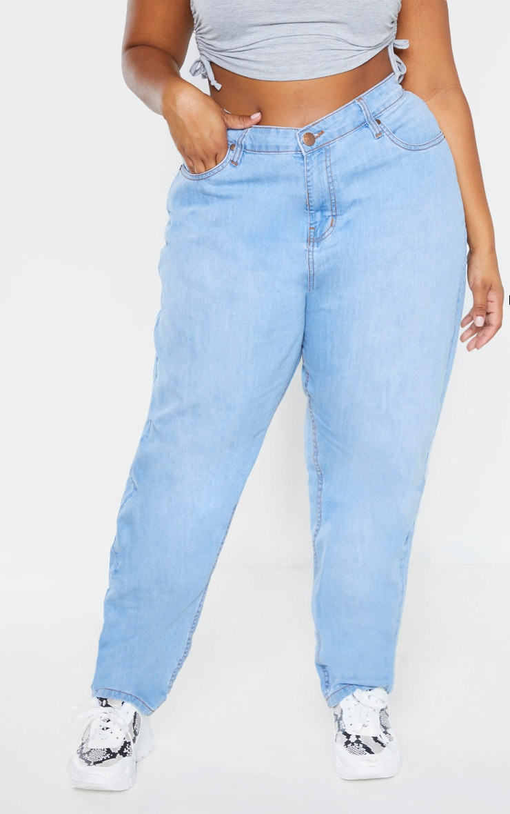 Plus Light Wash Straight Leg Jean 2