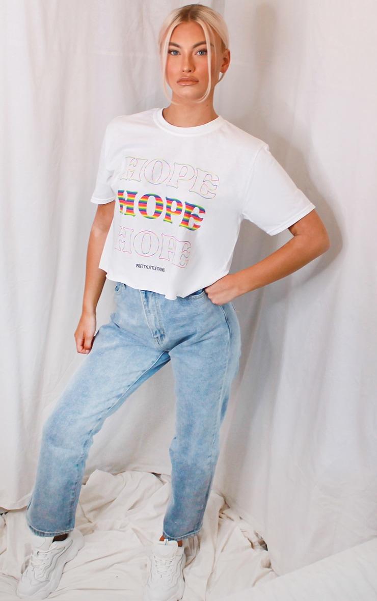 White NHS Hope Crop T Shirt 3