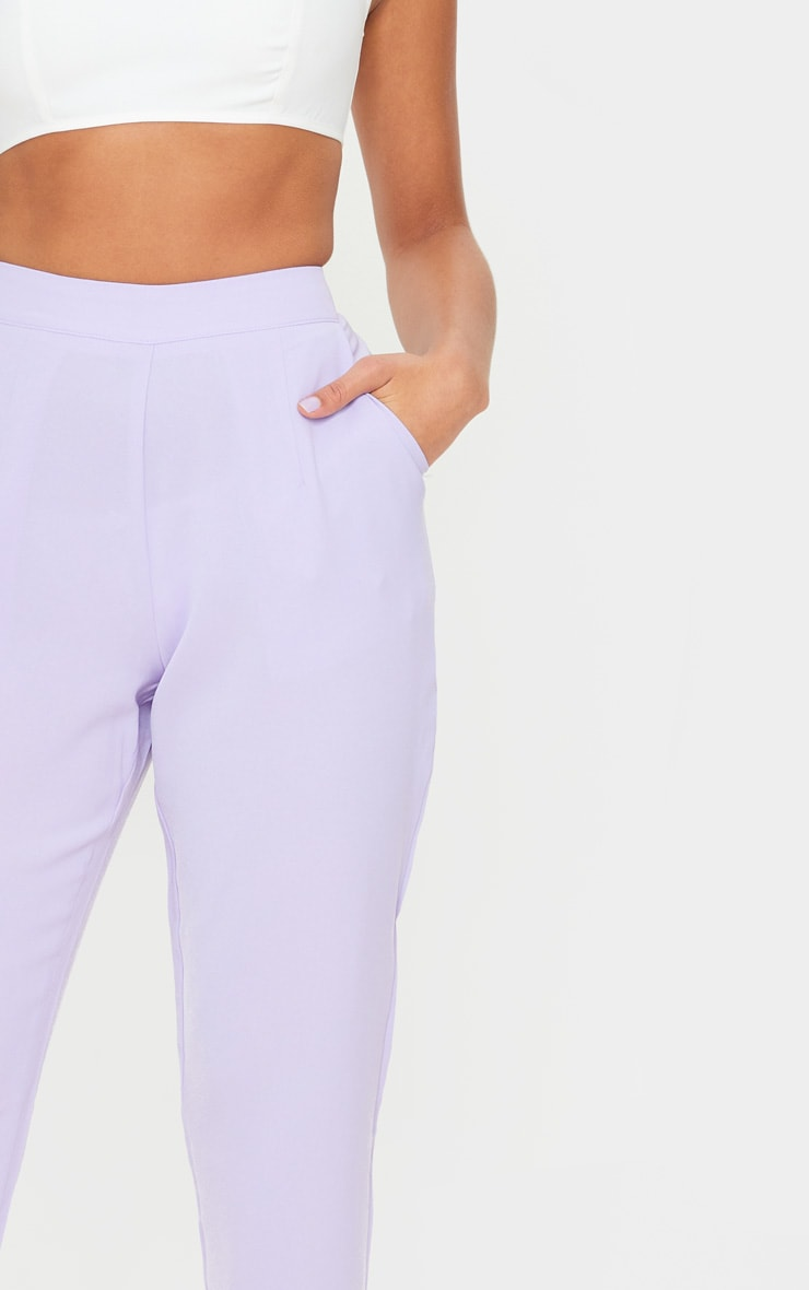 Lilac Tailored Trousers 5