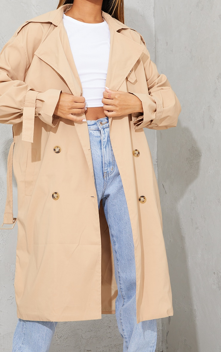 Camel Oversized Belted Midi Trench 4
