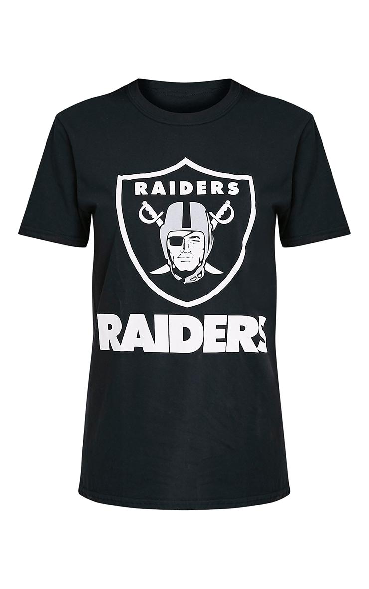 RAIDERS Slogan Black Boyfriend T Shirt 5