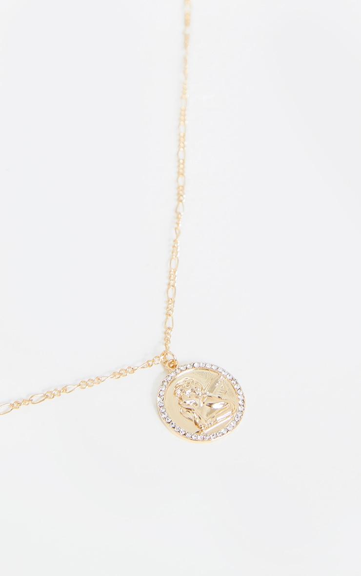 Gold Honey With Cherub Layering Necklace 4