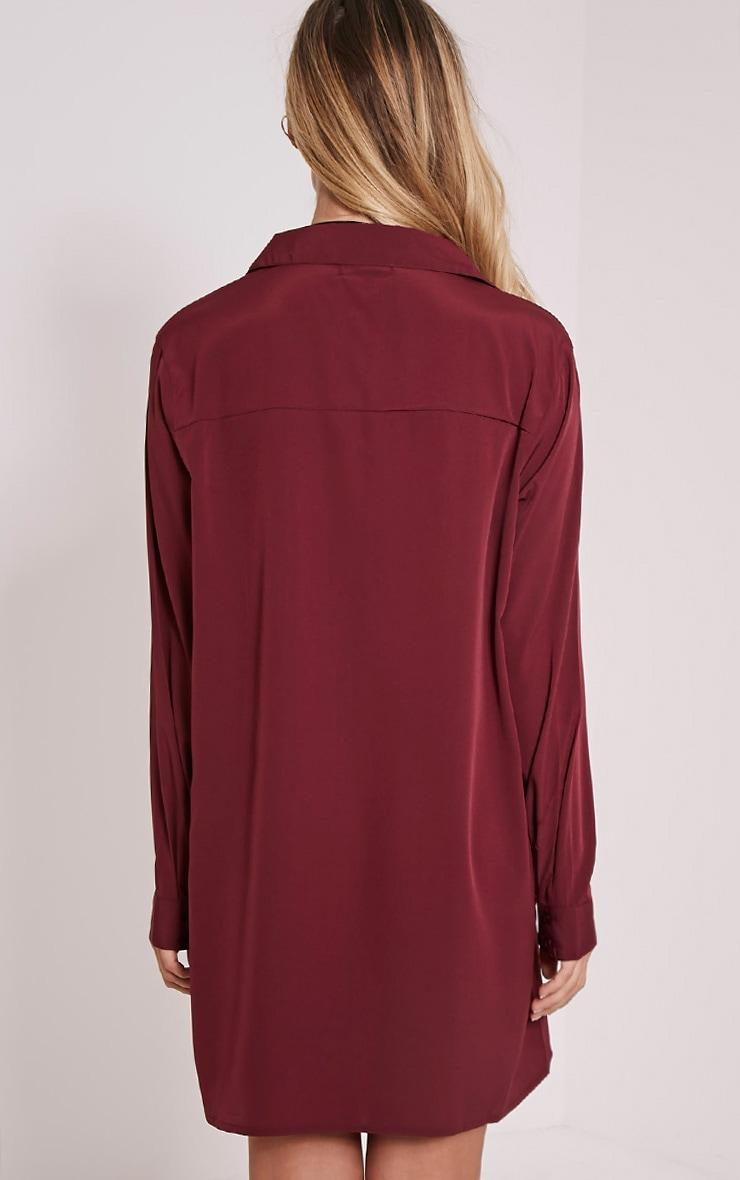 Effy Oxblood Shirt Dress 2