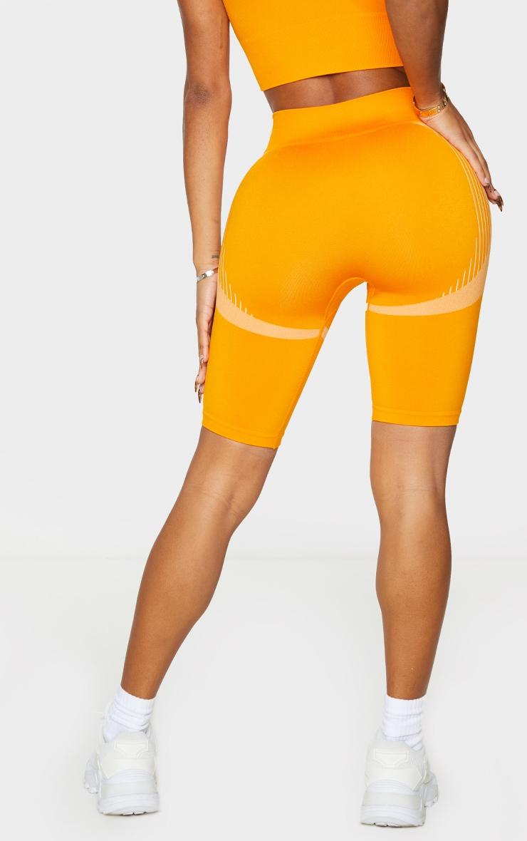 Shape Orange Seamless Bike Shorts 3