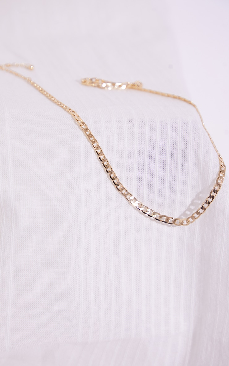 Gold Dainty Curb Chain Necklace 3
