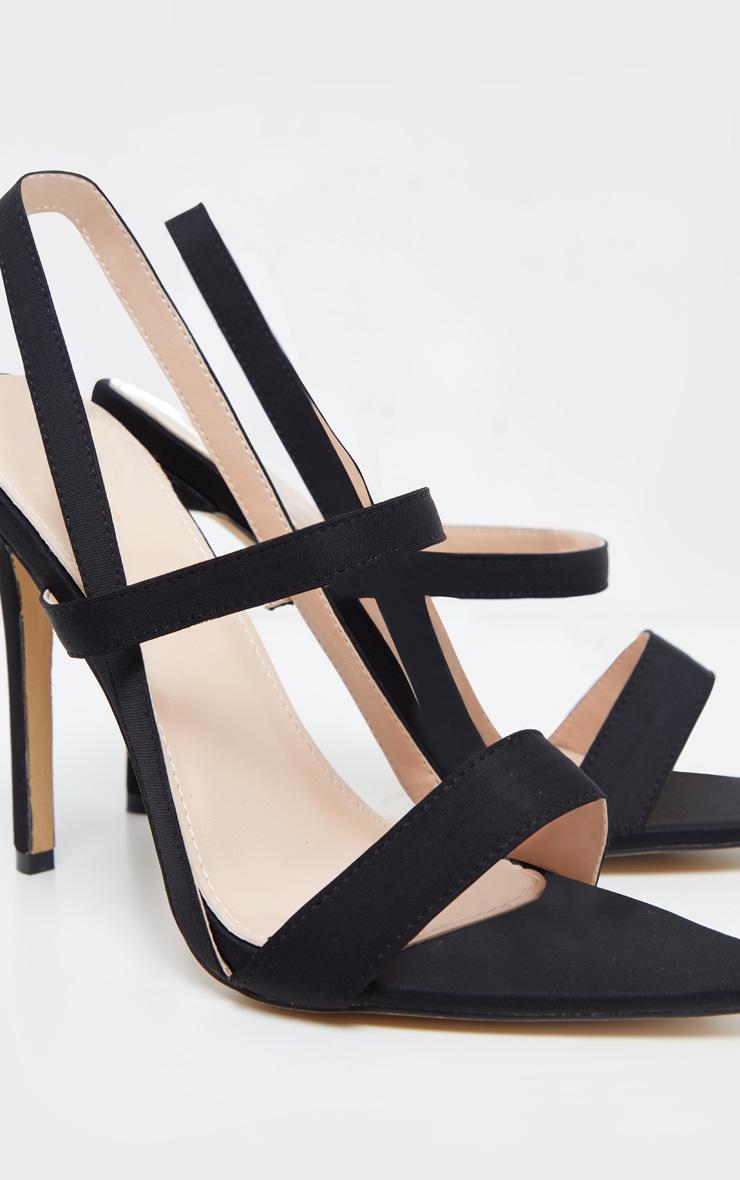 Sandales noires pointues à brides 4