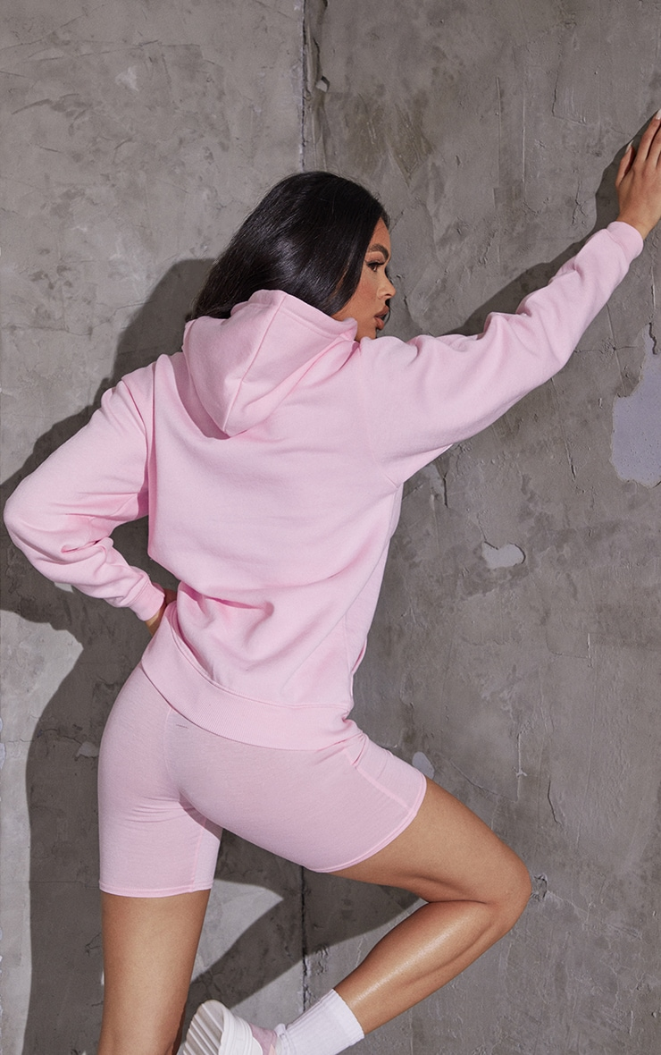 Recycled Baby Pink Oversized Sweat Hoodie 2