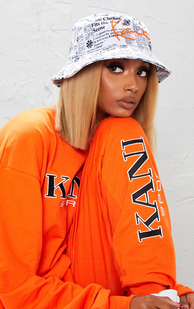 KARL KANI Orange Embroidered Joggers  6