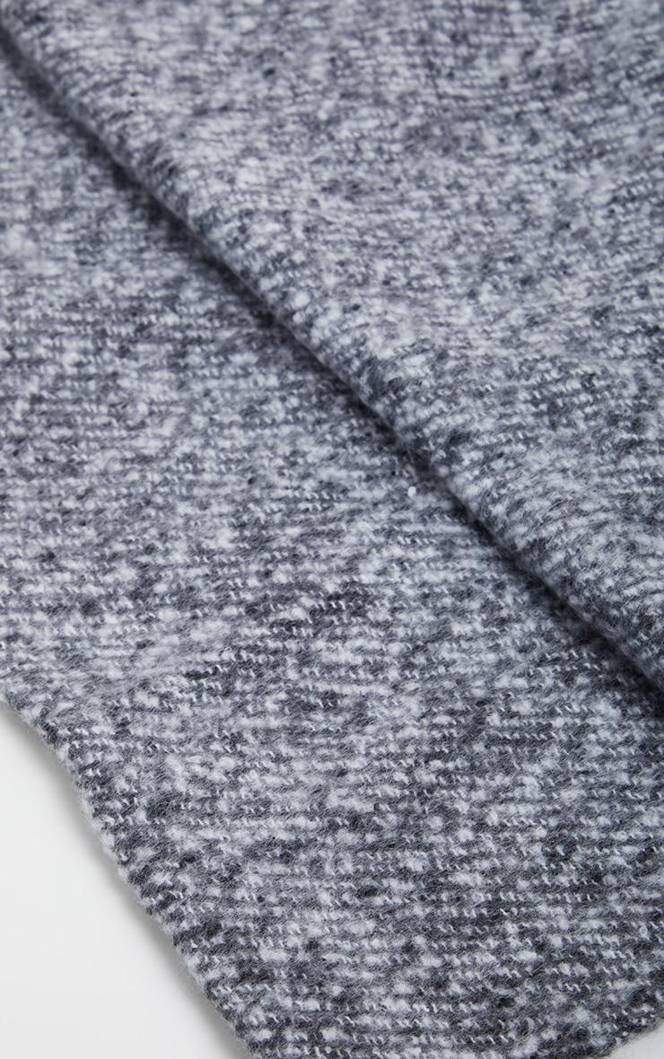 Black Super Soft Mini Blanket Scarf 3