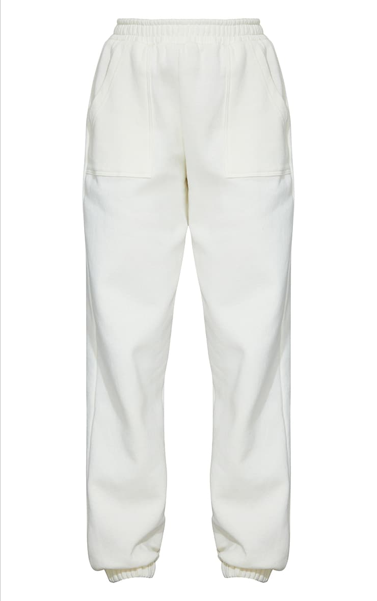 Cream Pocket Cuffed Joggers 5