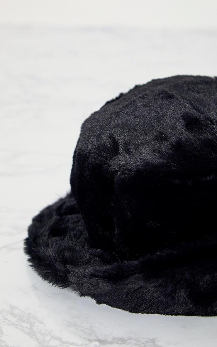 Black Fluffy Bucket Hat 4