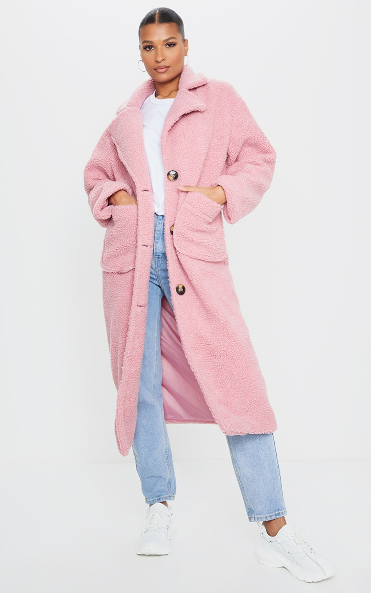 Rose Maxi Borg Coat 1