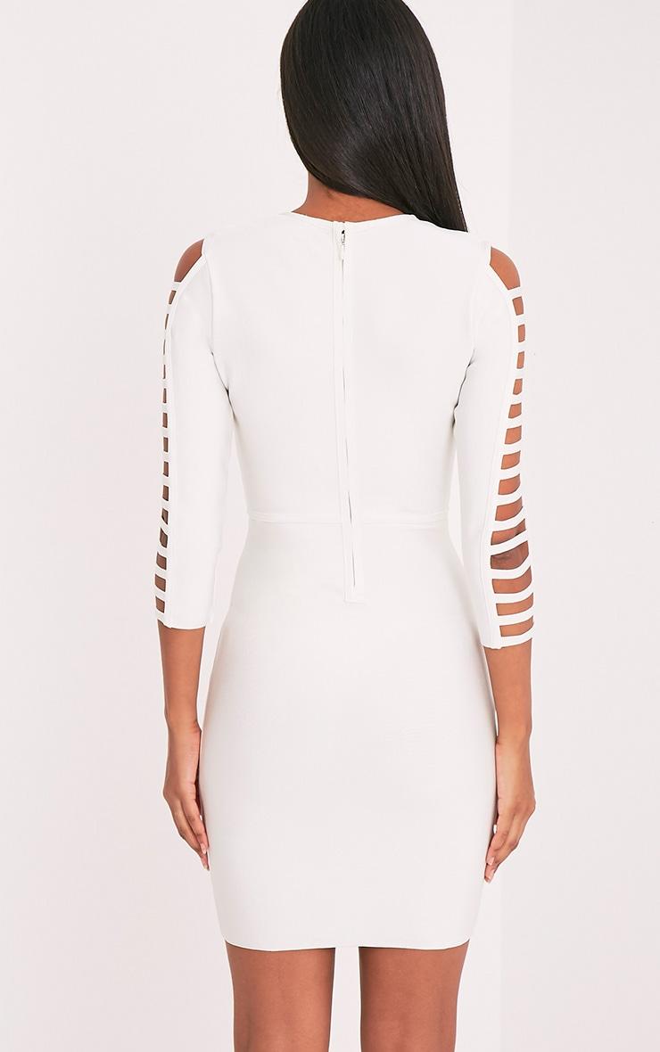 Laurena White Extreme Strap Bandage Dress 2