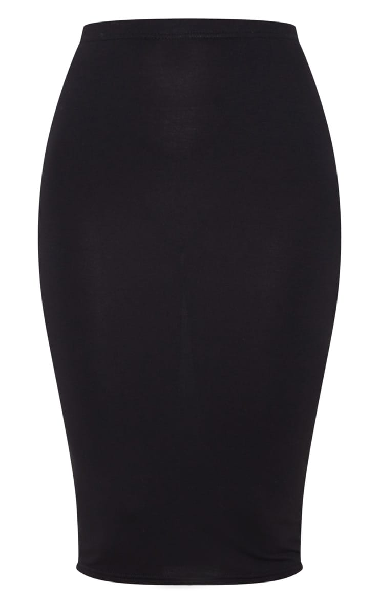 Basic Black Midi Skirt 7