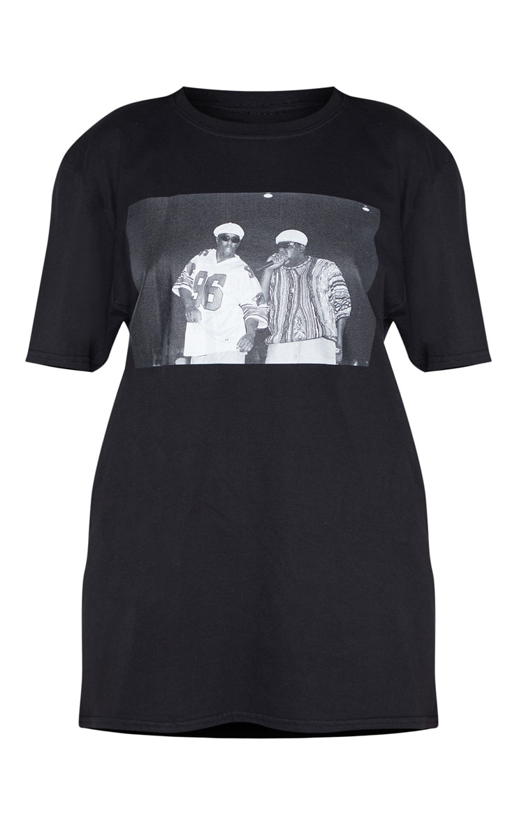 Black Biggie 96 Print Oversized T Shirt 3