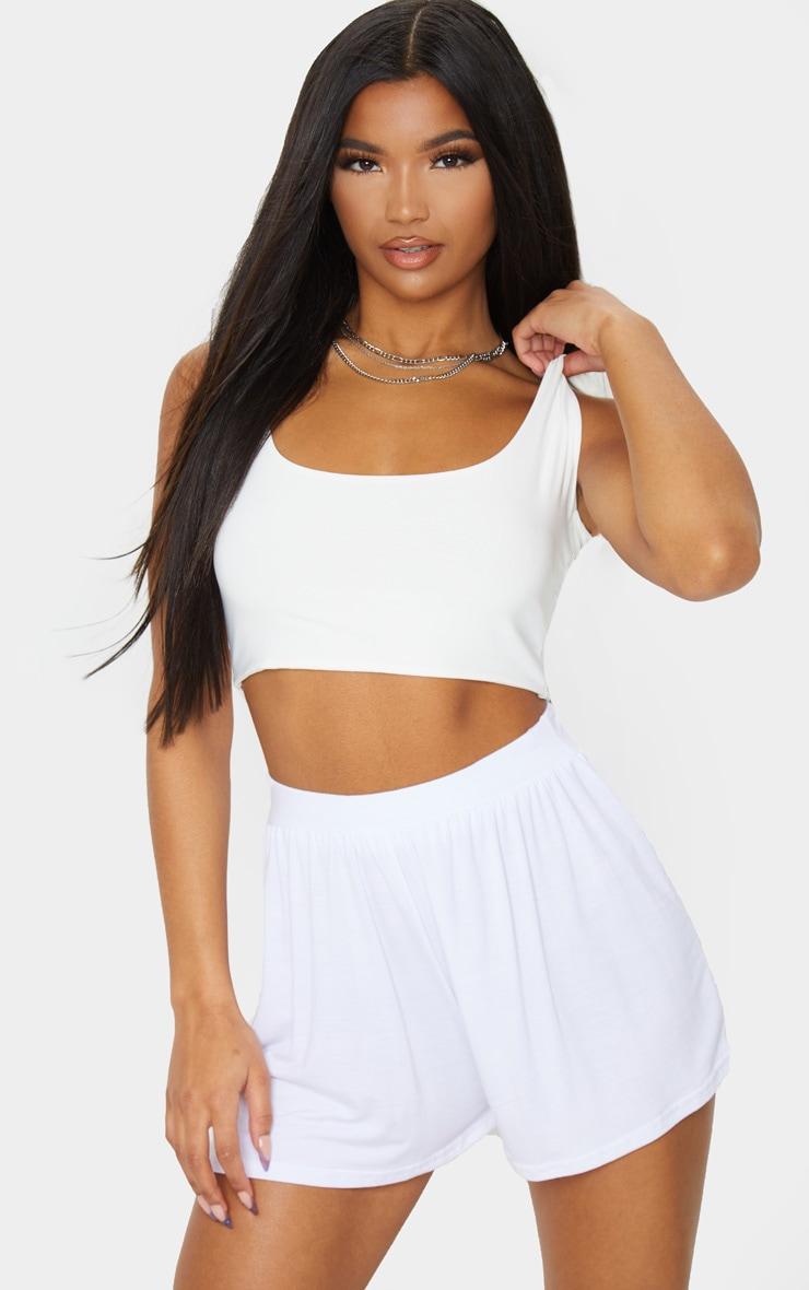 Lucilla White Jersey Floaty Shorts 5
