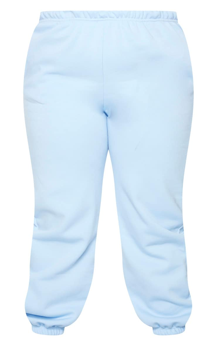 Plus Light Blue Casual Jogger  5