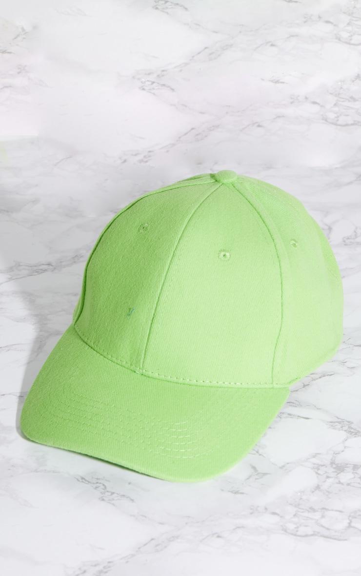 Lime Baseball Cap 3